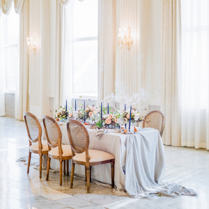 Elegant ballroom reception on Elizabeth Anne Designs