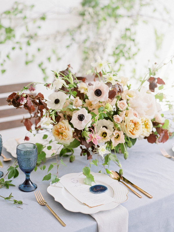 Blush and Rust Wedding Flowers