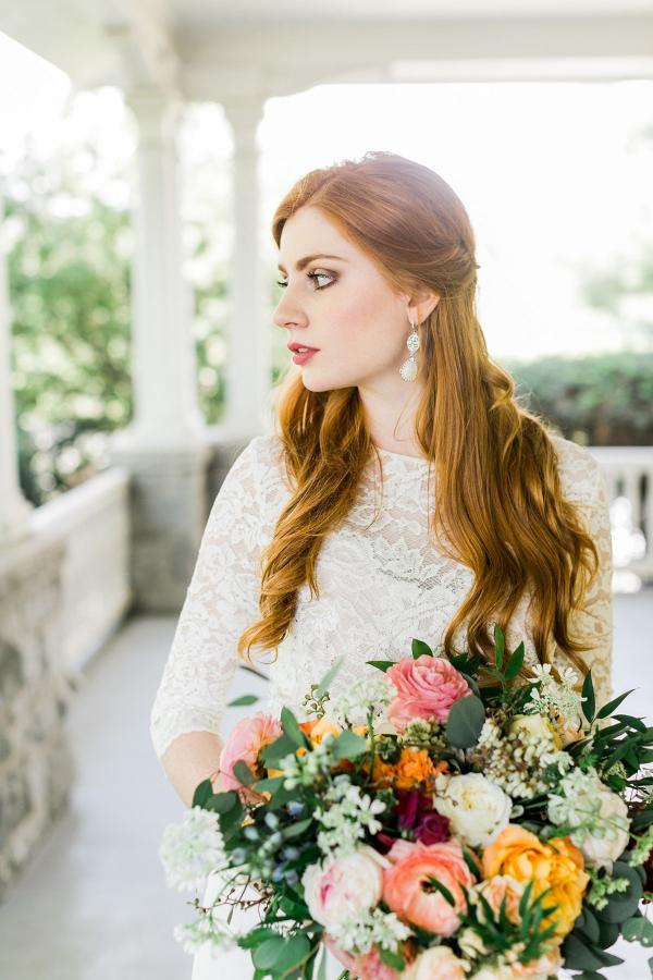 Spring bridal portrait