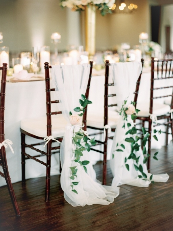 Greenery and draping chair detail