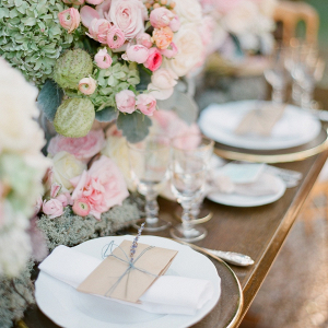 Romantic pink tablescape