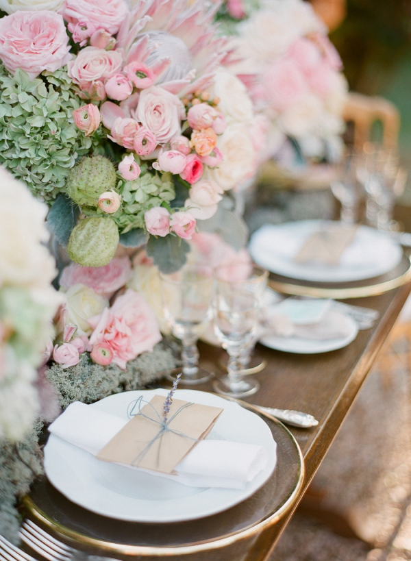 Romantic pink tablescape