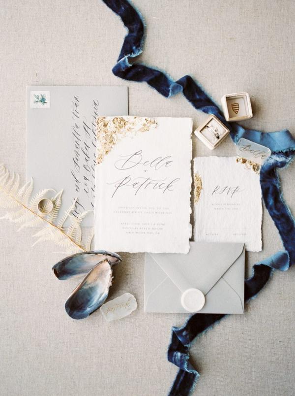 Ocean inspired wedding invitation