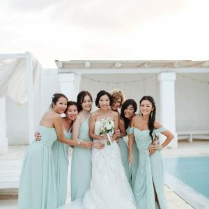 Seafoam Bridesmaids Dresses