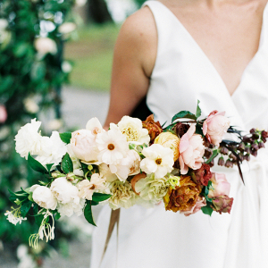 Bouquet of Amber and Pink Flowers