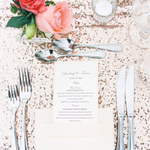 Champagne Sequin Wedding Table