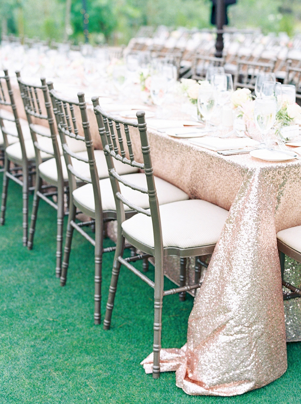 Wedding Table with Champagane Sequins