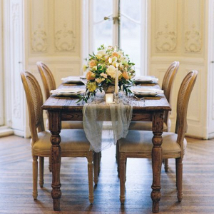 Elegant french inspired wedding tablescape