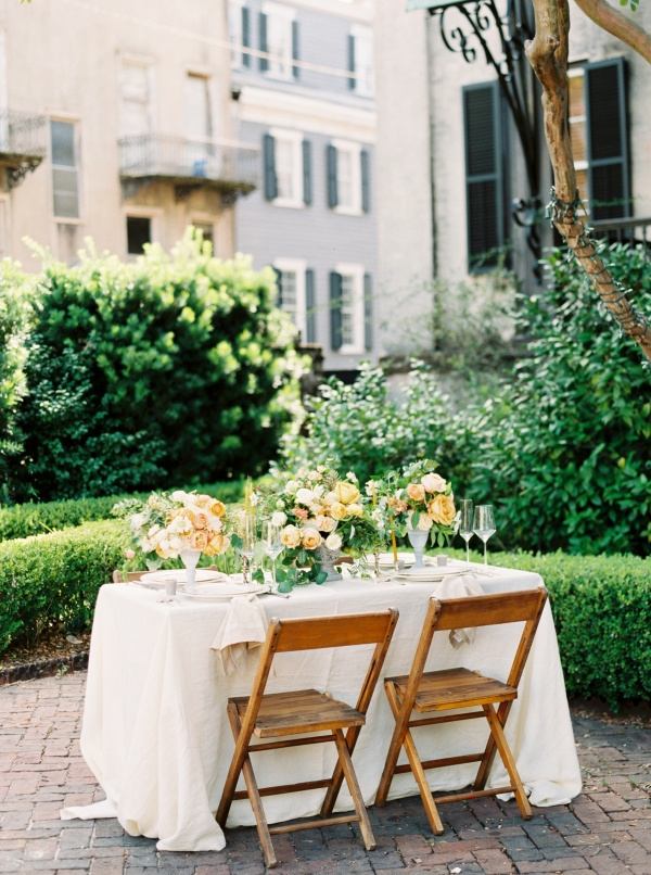 Romantic Patio Reception on Elizabeth Anne Designs