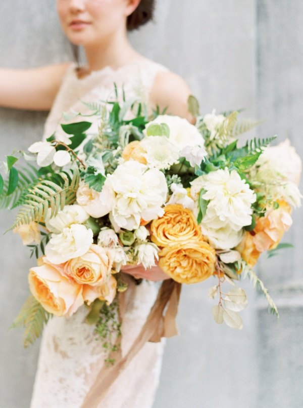 Mustard and Cream Bouquet on Elizabeth Anne Designs
