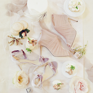 Mauve and Pink Bride Accessories