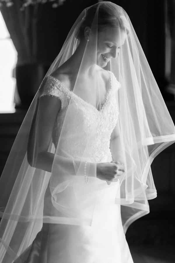 Veiled bride