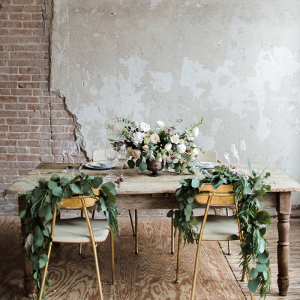 Romantic brick loft wedding inspiration
