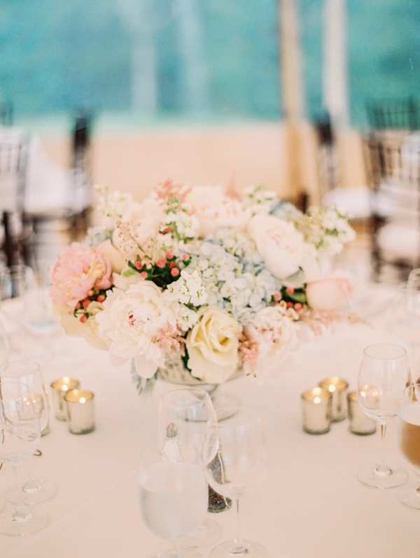 Pastel Pink and Blue Centerpiece