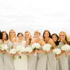 Pale Silver Bridesmaids Dresses