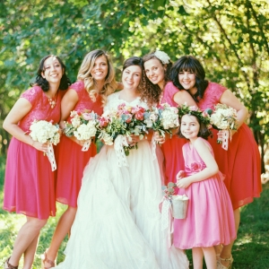 Bridesmaids in Shades of Pink