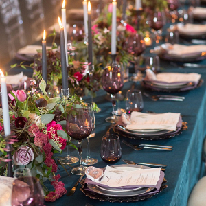 Jewel tone tablescape