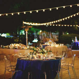 Outdoor nighttime reception