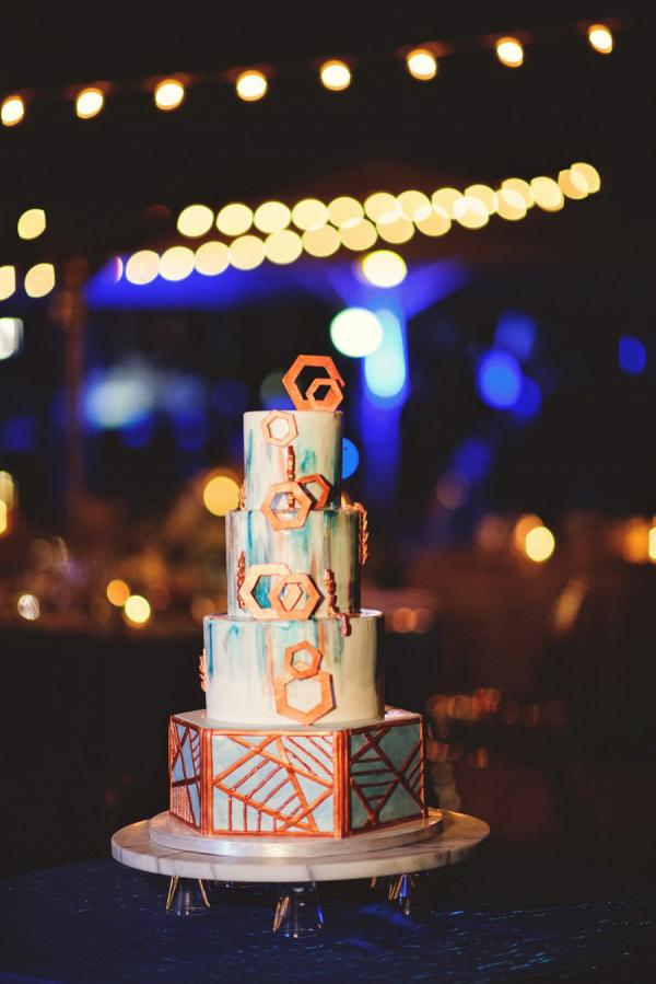 Modern painted cake