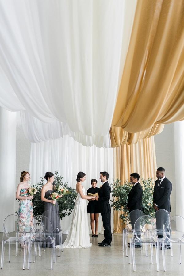 Ceremony draping