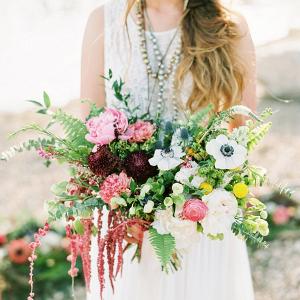 Lush boho bouquet