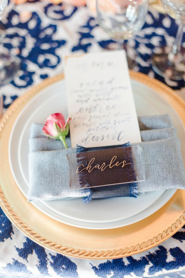 calligraphy place setting