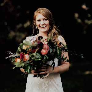 Fall boho bridal bouquet