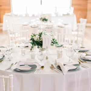 Classic light gray wedding table