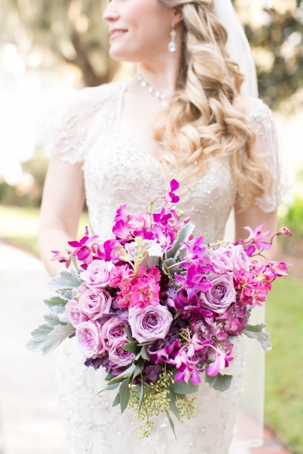 Plum, purple, and pink bouquet