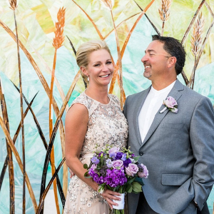 Classic purple New Jersey wedding