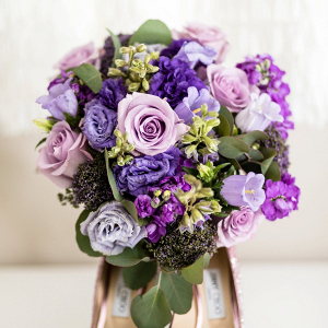 Classic purple bridal bouquet