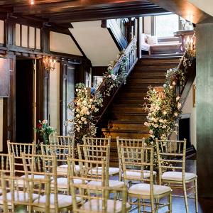 Staircase wedding ceremony