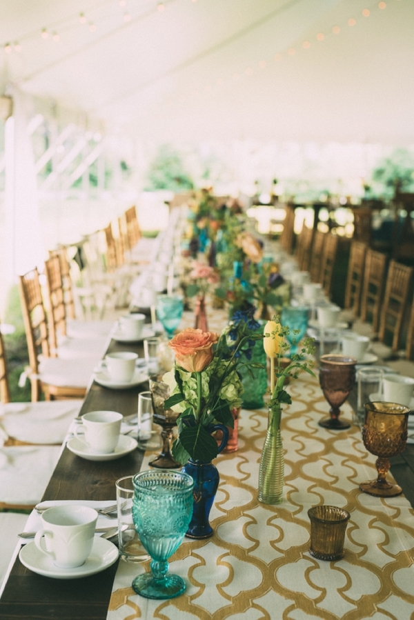 Colorful Backyard Bohemian Wedding