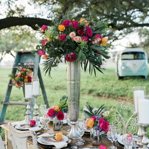 Tall boho centerpiece