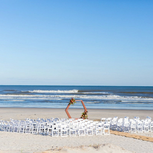 Modern beach ceremony