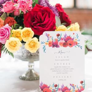 Floral print menu