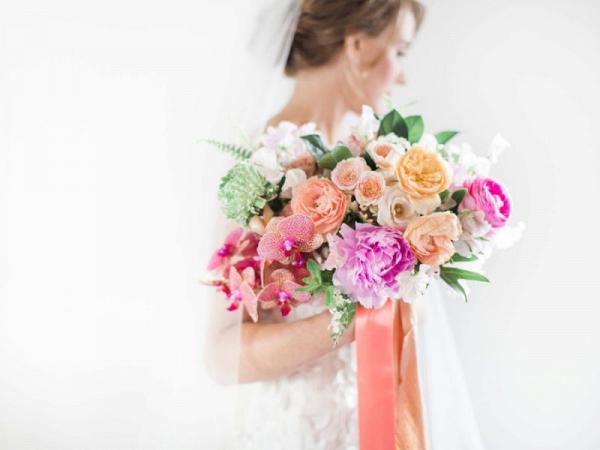 Lush bright bouquet