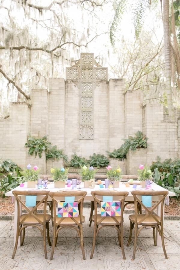Colorful Geometric Wedding Ideas