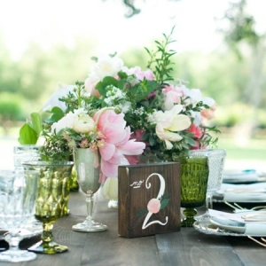 Handpainted table number