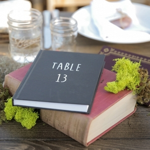 books as a centerpiece