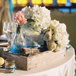 Eclectic centerpiece with wood box
