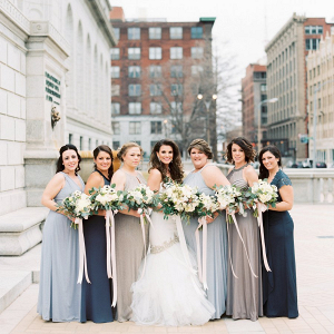 Mismatched bridal party