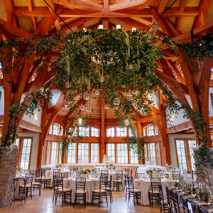 Hanging greenery reception