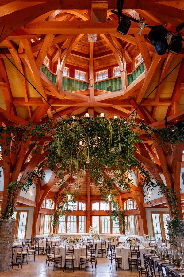 Hanging greenery reception