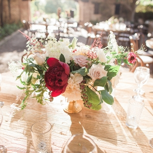 Red and blush centerpiece