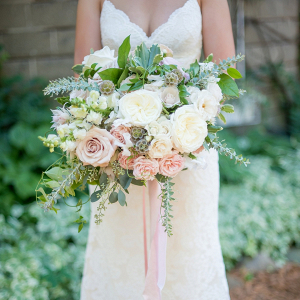 Blush and ivory bouquet on Every Last Detail