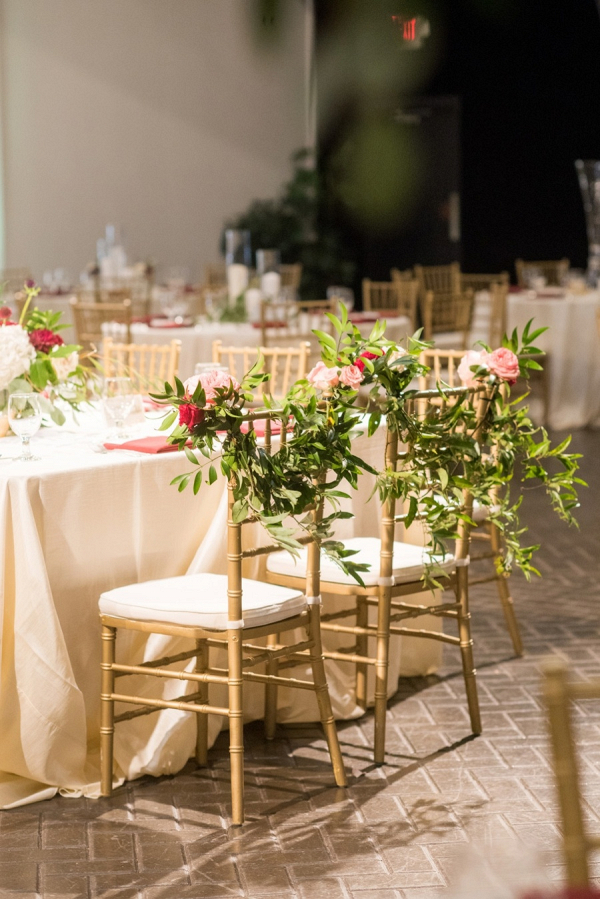 Wedding chair greenery decor