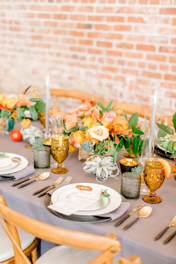 Organic orange tablescape