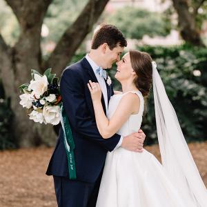 Elegant southern wedding portrait