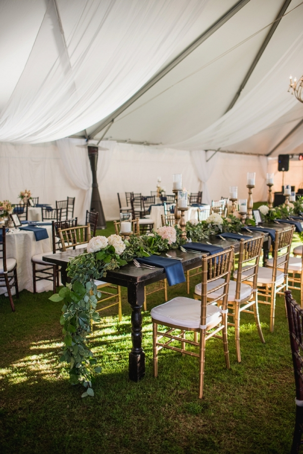 Tablescape with greenery runner
